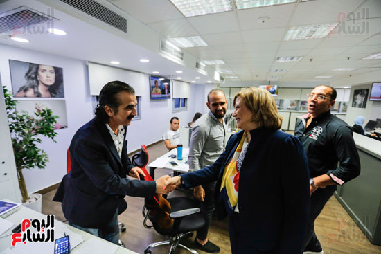 آمال عثمان تزور مقر اليوم السابع (6)