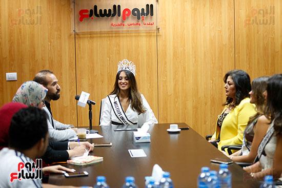 ملكات جمال مصر خلال الندوة