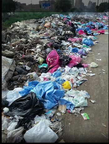 انتشار القمامة والمخلفات الطبية خلف مصنع طنطا للزيوت (1)