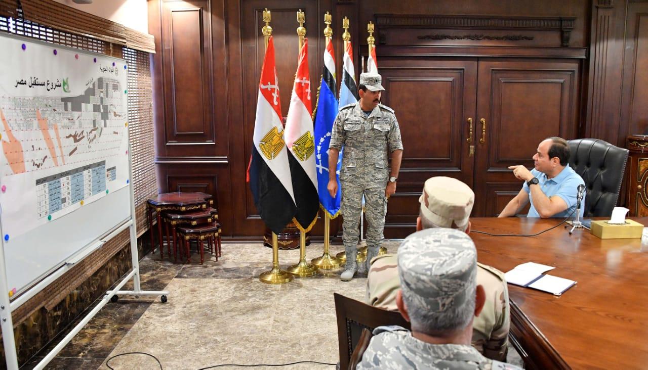 تفقد الرئيس السيسى لاحدى القواعد الجوية (2)