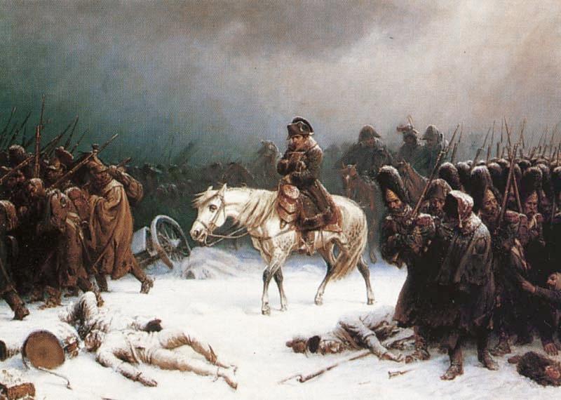 انسحاب نابليون من روسيا بريشة أدولف نورثن