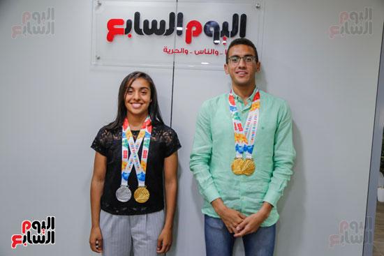 سلمى أيمن و أحمد الجندي لاعبى الخماسى الحديث  (9)