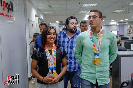سلمى أيمن و أحمد الجندي لاعبى الخماسى الحديث  (8)