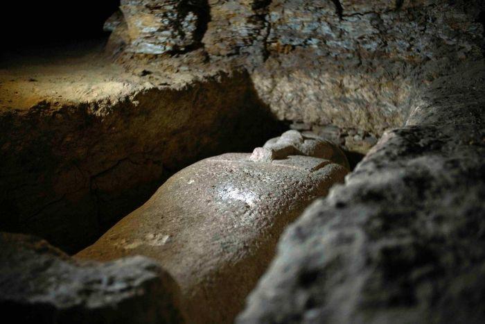 أحد التوابيت التى عثر عليها فى جنوب مصر