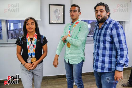 سلمى أيمن و أحمد الجندي لاعبى الخماسى الحديث  (5)