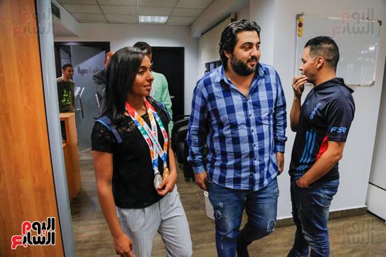 سلمى أيمن و أحمد الجندي لاعبى الخماسى الحديث  (21)