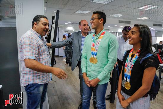 سلمى أيمن و أحمد الجندي لاعبى الخماسى الحديث  (15)