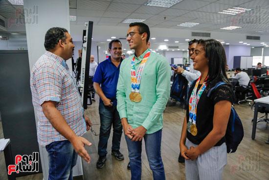 سلمى أيمن و أحمد الجندي لاعبى الخماسى الحديث  (17)