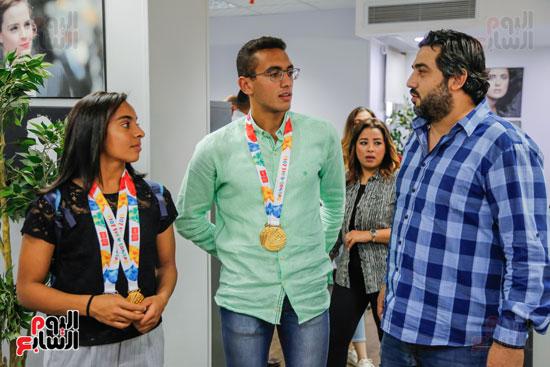 سلمى أيمن و أحمد الجندي لاعبى الخماسى الحديث  (4)