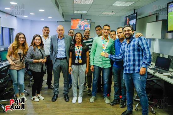 سلمى أيمن و أحمد الجندي لاعبى الخماسى الحديث  (1)