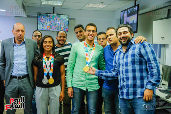 سلمى أيمن و أحمد الجندي لاعبى الخماسى الحديث  (2)