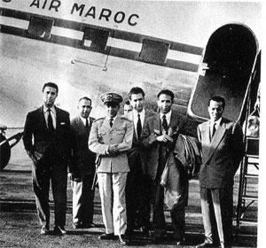 قادة الثورة الجزائرية قبل اختطاف طائراتهم