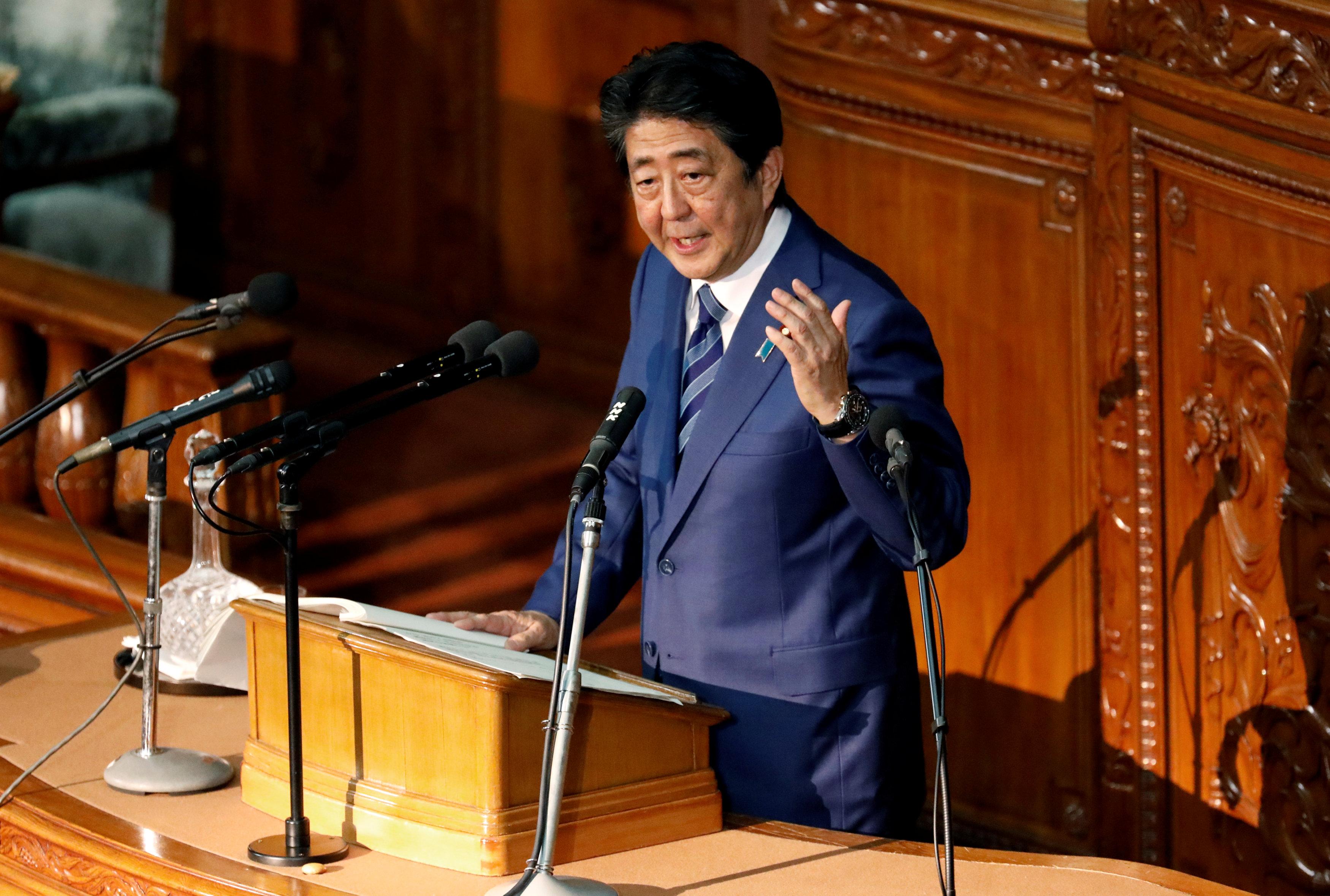 رئيس وزراء اليابان أمام البرلمان