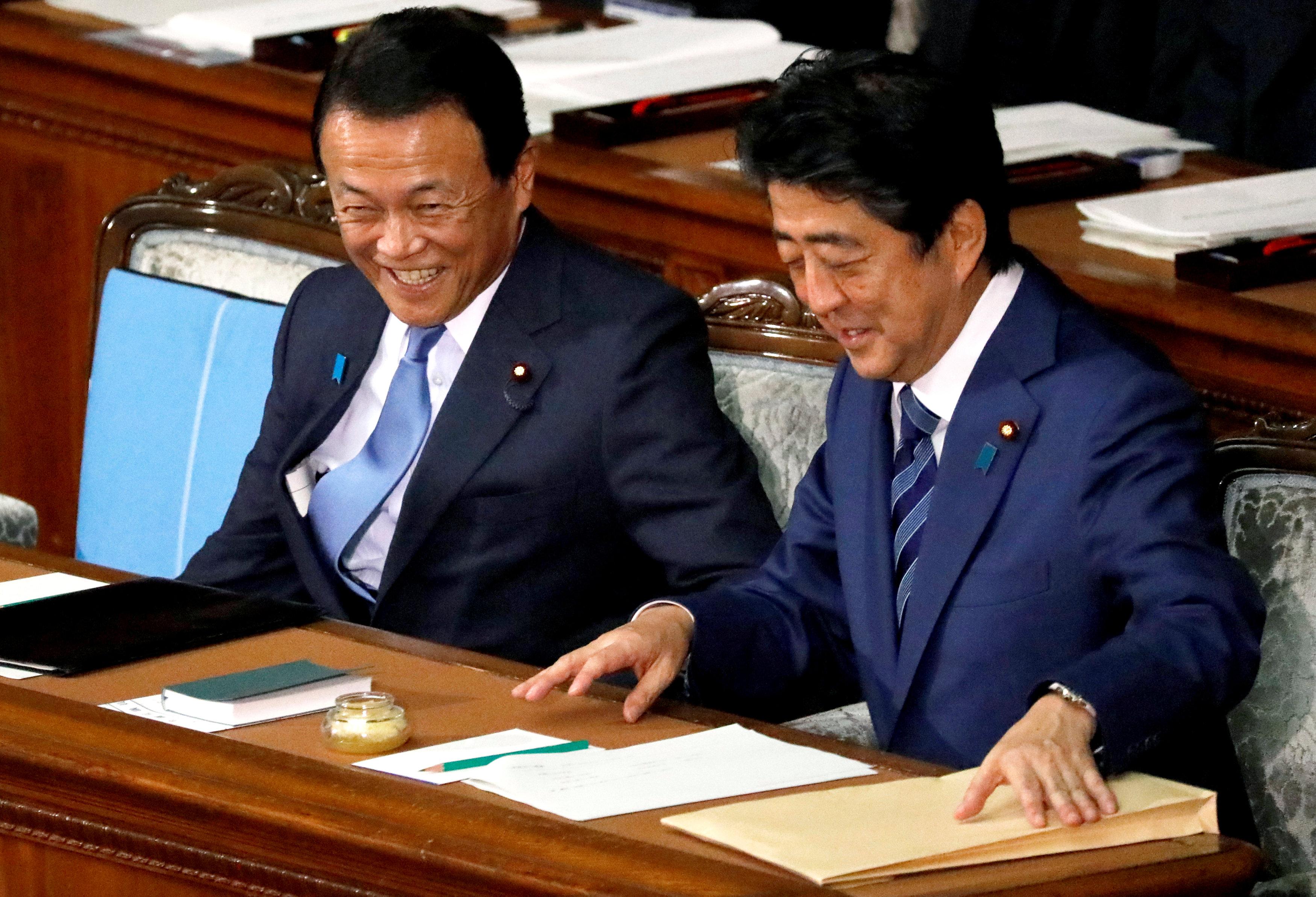 حديث باسم بين رئيس وزراء اليابان ونائبه