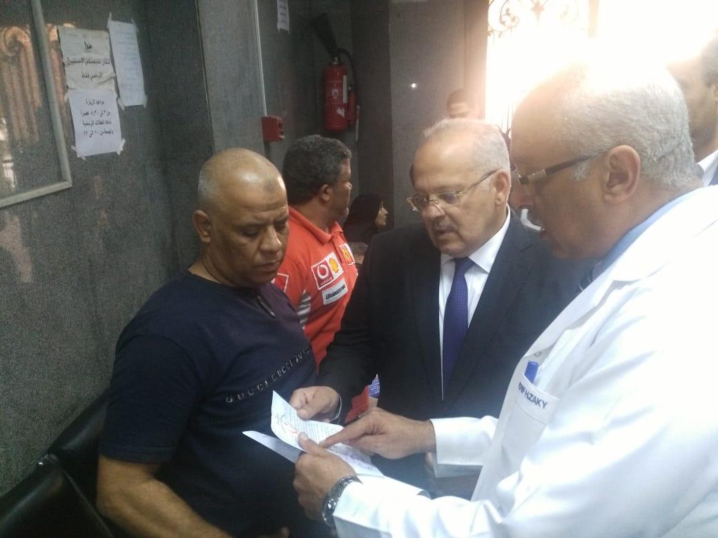 رئيس جامعة القاهرة يتفقد قصر العينى  (7)