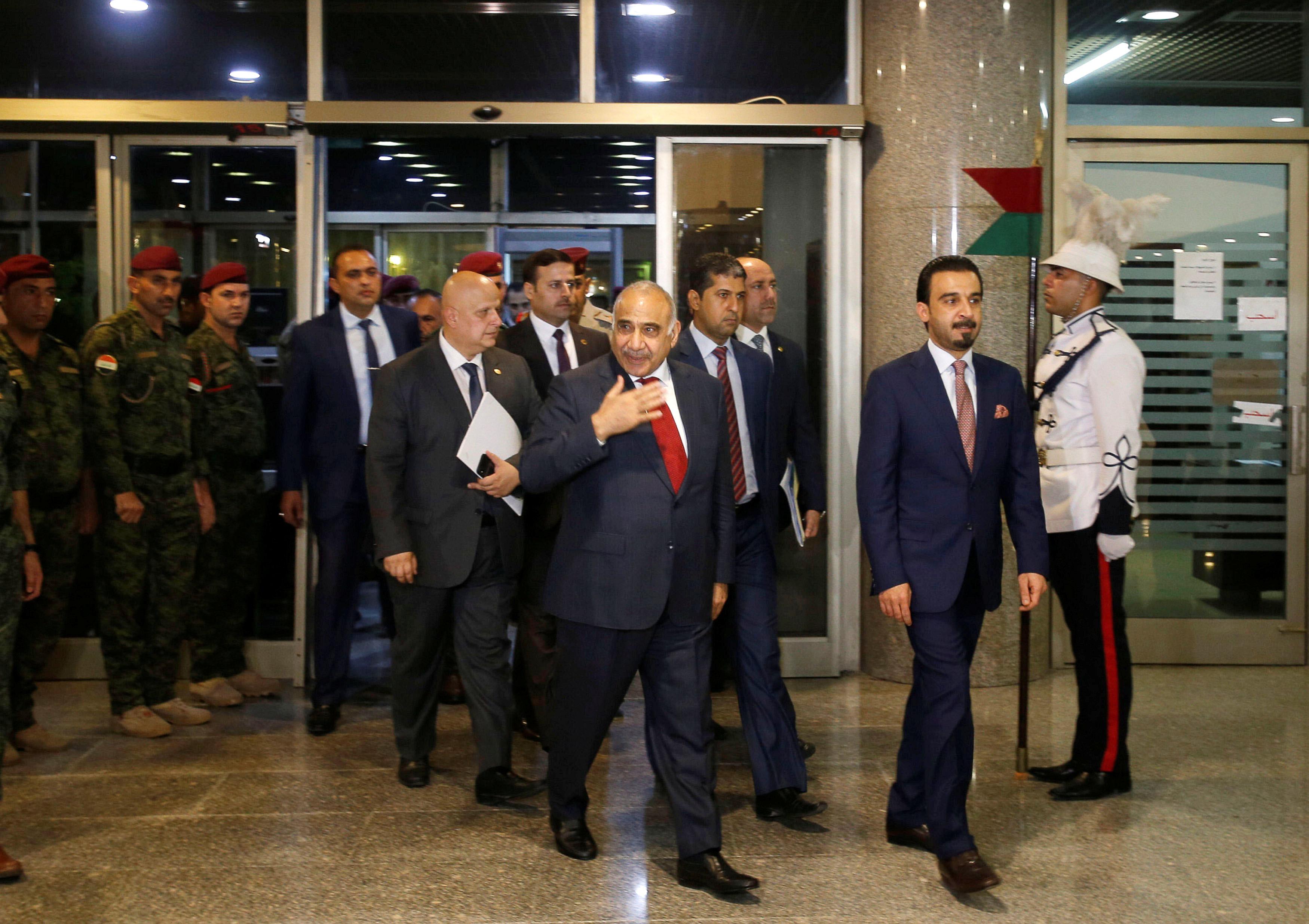 وصول رئيس الوزراء العراقى عادل عبد المهدى