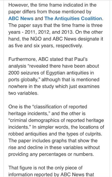 """""""إيجيبت توداى"""" يفضح مزاعم محطة abc الأسترالية بشأن قيمة الآثار المهربة من مصر 149143-3.PNG"""