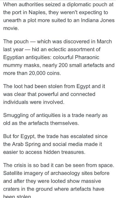 """""""إيجيبت توداى"""" يفضح مزاعم محطة abc الأسترالية بشأن قيمة الآثار المهربة من مصر 206789-5.PNG"""