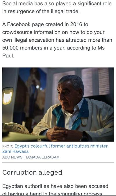 """""""إيجيبت توداى"""" يفضح مزاعم محطة abc الأسترالية بشأن قيمة الآثار المهربة من مصر 362351-11.PNG"""