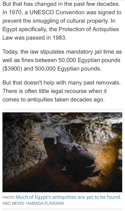 """""""إيجيبت توداى"""" يفضح مزاعم محطة abc الأسترالية بشأن قيمة الآثار المهربة من مصر 372193-12.PNG"""