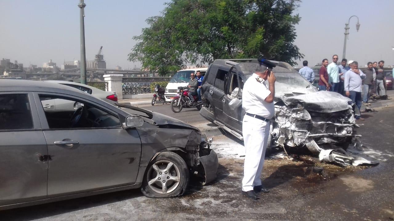 زحام مرورى بسبب حادث التصادم