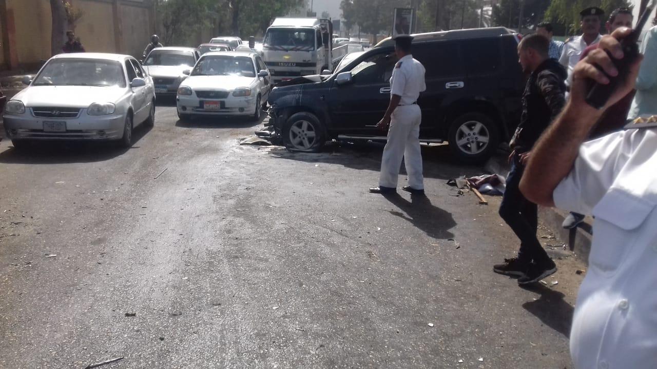 حادث مرورى بمحور كورنيش النيل