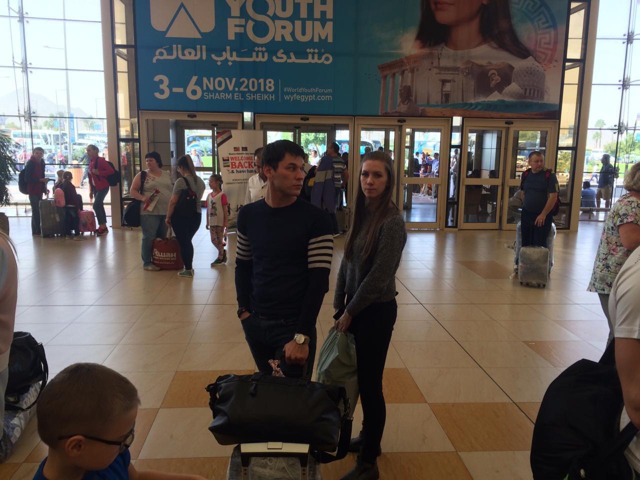 وصول اول طائرة من روسيا اليوم الي مطار شرم الشيخ  (1)