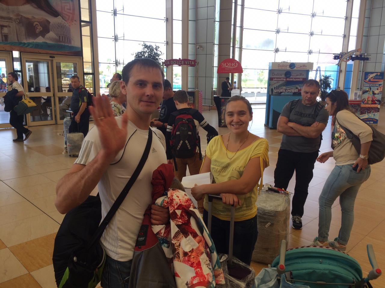 وصول اول طائرة من روسيا اليوم الي مطار شرم الشيخ  (2)