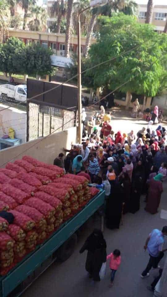 ضبط 25 طن بطاطس بأوسيم (2)