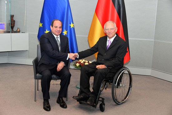 الرئيس عبد الفتاح السيسي ورئيس البرلمان الألماني (1)