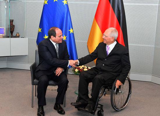 الرئيس عبد الفتاح السيسي ورئيس البرلمان الألماني (3)