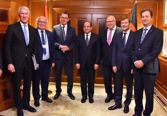 الرئيس السيسى بالشركات الألمانية (2)