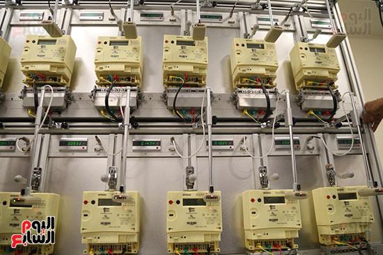 افتتاح وزير الكهرباء والانتاج الحربى مصنع عدادات الكهرباء (45)