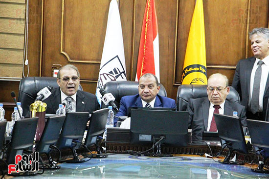 اتفاقية تعاون أكاديمى بين جامعتى بنى سويف وسيناء (12)