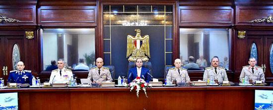 السيسى يجتمع بالمجلس الأعلى للقوات المسلحة (1)