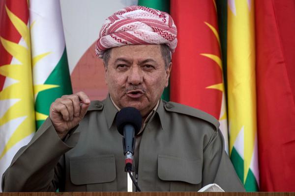 مسعود بارزانى رئيس إقليم كردستان السابق الذى دعا للاستفتاء