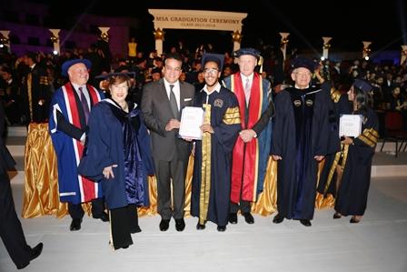 وزير التعليم العالى يشهد حفل تخرج دفعة من جامعة أكتوبر للعلوم الحديثة والآداب (5)