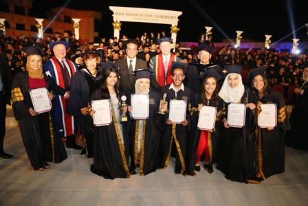 وزير التعليم العالى يشهد حفل تخرج دفعة من جامعة أكتوبر للعلوم الحديثة والآداب (6)