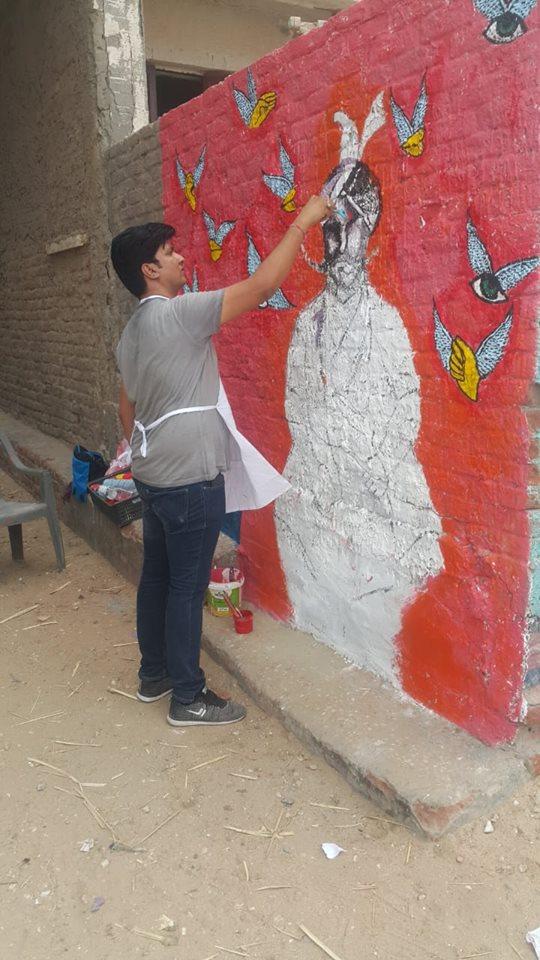 8- ابداع فنان على جدار بالبرلس
