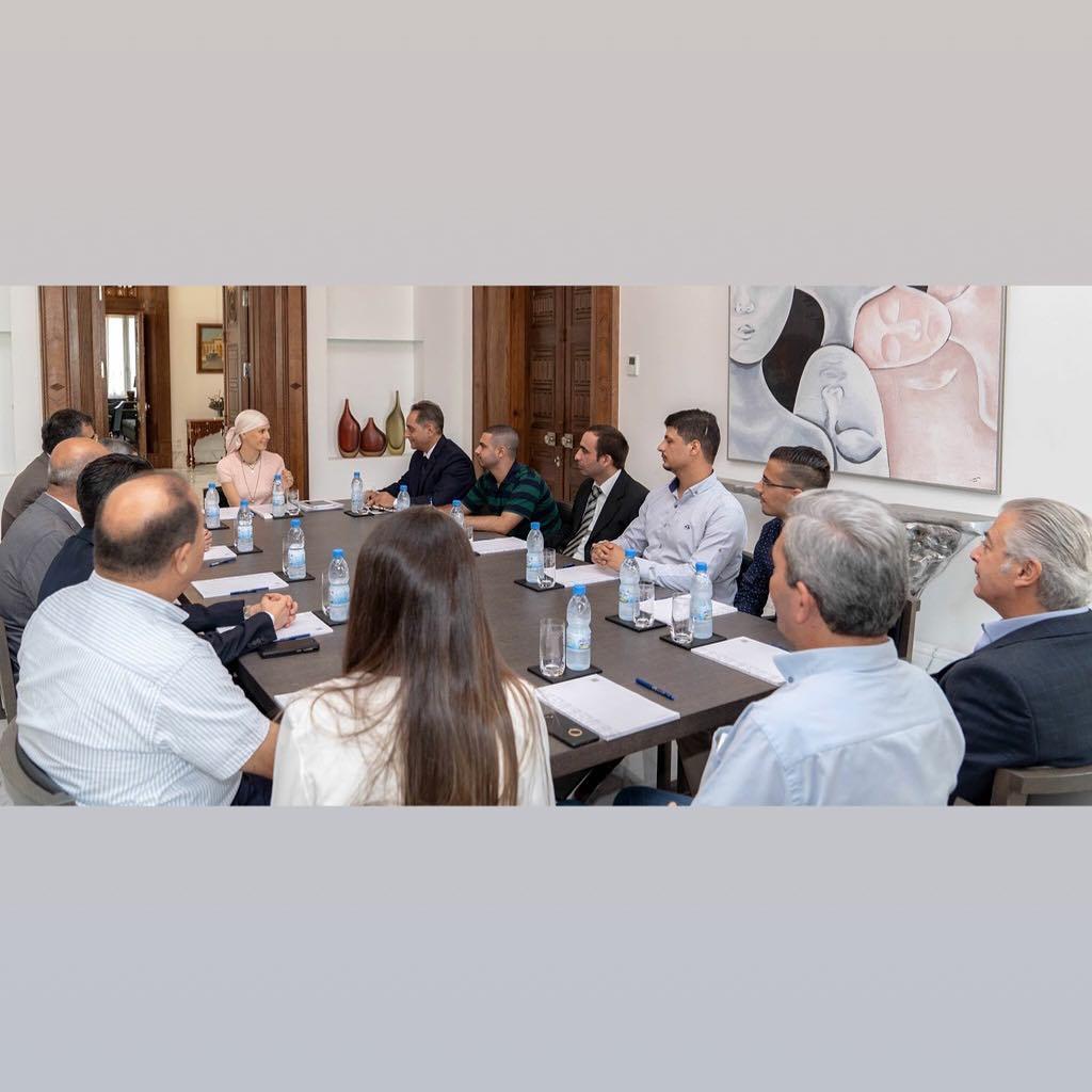 أسماء الأسد تترأس اجتماعاً حول تطوير مسار عمل الأولمبياد العلمي