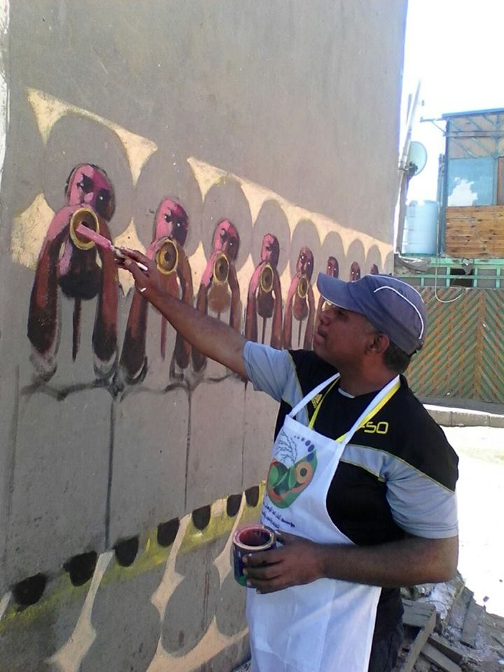14- جانب من ابداع فنان