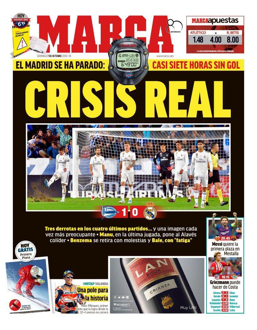 211cdb4ff2ead انهيار ريال مدريد حديث الصحافة الإسبانية.. صور - اليوم السابع