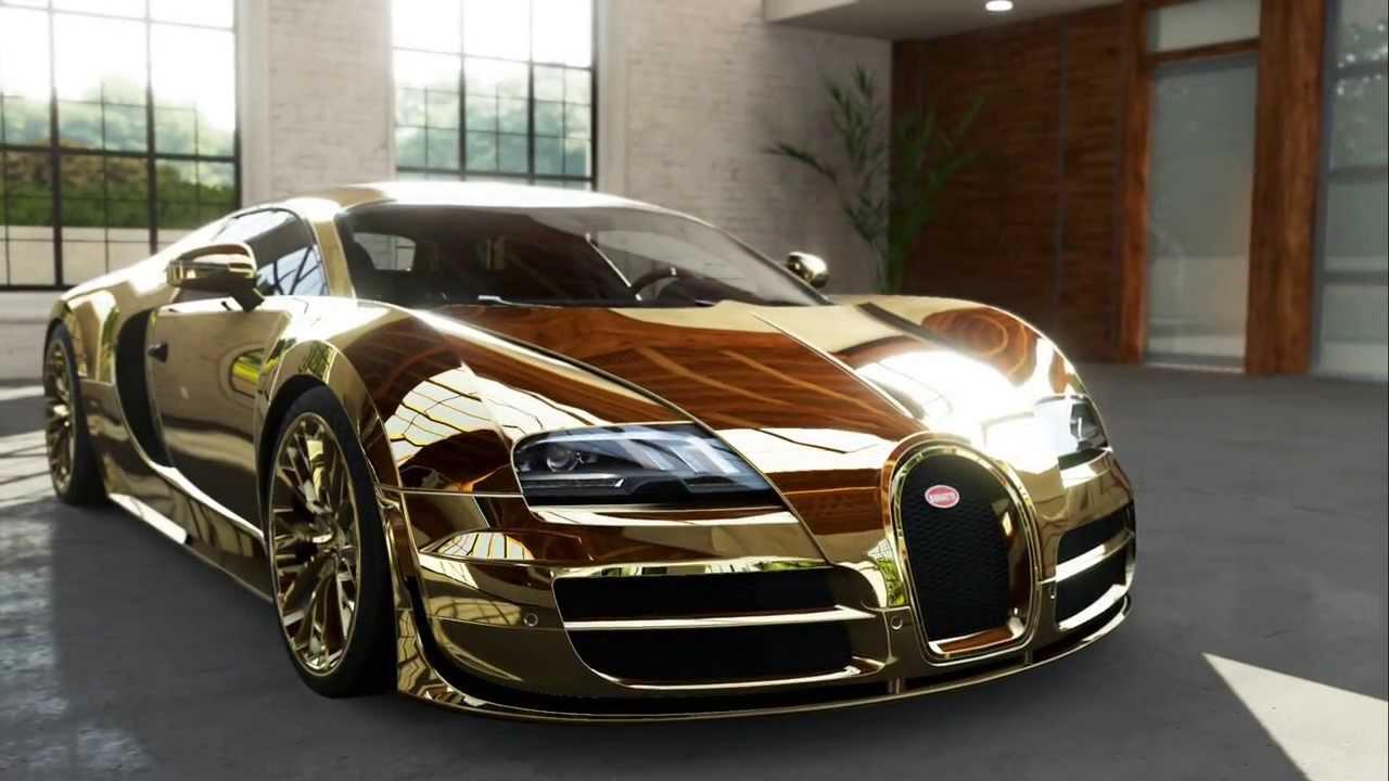 The gold plated Bugatti Veyron