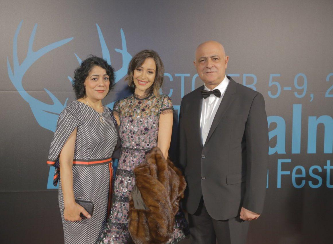 منة شلبى ومؤسس مهرجان مالمو للسينما العربية