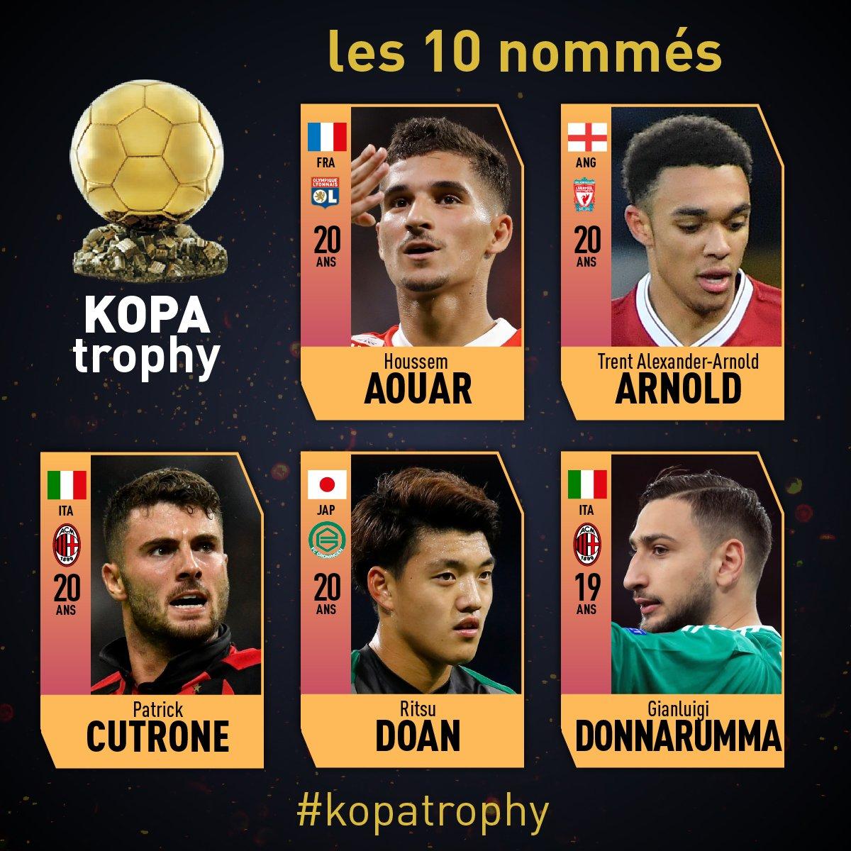 اللاعبين المرشحين لجائزة كوبا (1)