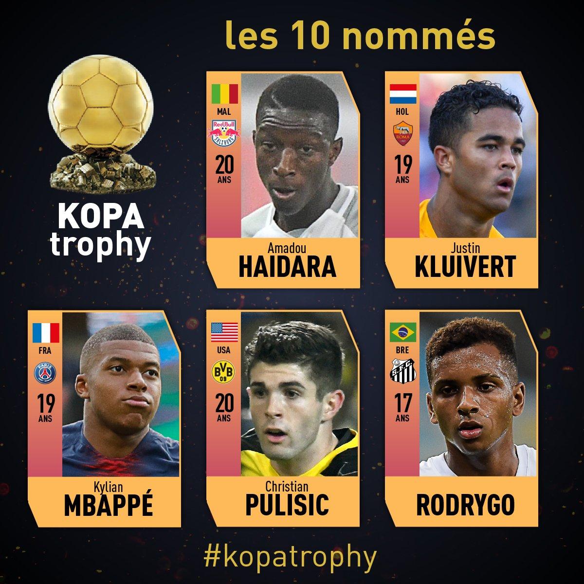 اللاعبين المرشحين لجائزة كوبا (2)