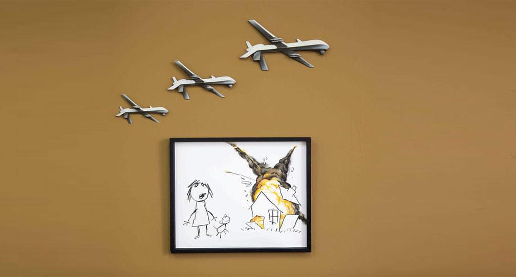 لوحة ثلاثة طائرات بدون طيار