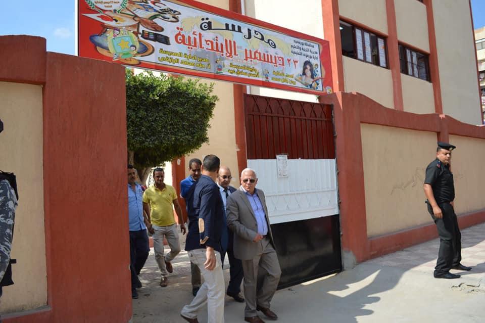 اللواء عادل الغضبان يتفقد مدارس المدينة فى الأسبوع الثالث للدراسة (2)