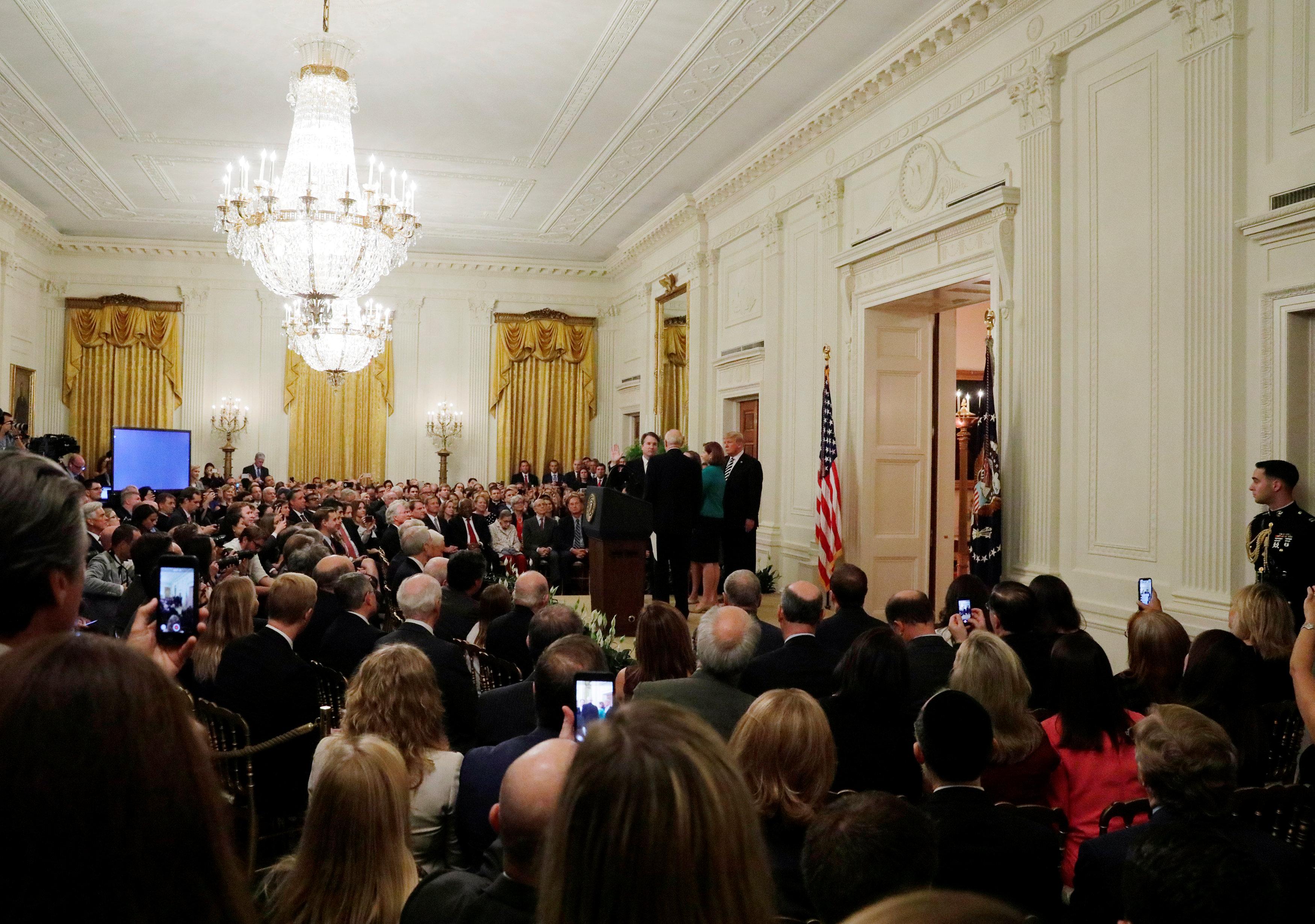 قاعة الحضور فى البيت الأبيض