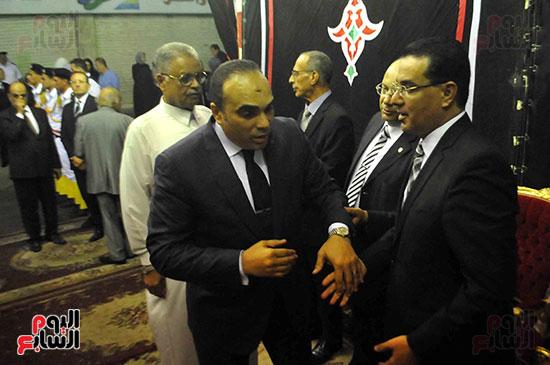 رئيس محكمة استئناف القاهرة يتلقى العزاء فى وزير العدل الأسبق (11)